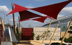 bambus sonnensegel buga 2005 conbam der bambus spezialist. Black Bedroom Furniture Sets. Home Design Ideas